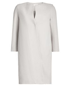 Harris Wharf London | Collarless Textu Coat With Cotton Gr. It 40