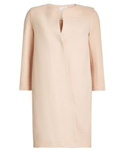 Harris Wharf London | Collarless Textu Coat With Cotton Gr. It 42