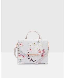 Ted Baker | Oriental Blossom Crosshatch Small Tote Bag Light