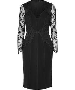 Catherine Deane | Lace-Paneled Ponte Dress
