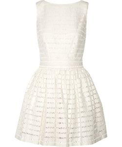 Thakoon Addition | Lace-Trimmed Textured-Knit Mini Dress