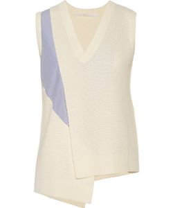 Thakoon Addition | Asymmetric Paneled Wool And Cashmere-Blend Vest