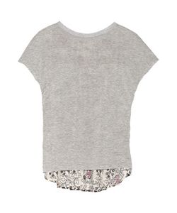 Thakoon Addition | Jersey And Printed Eyelet-Cotton Top