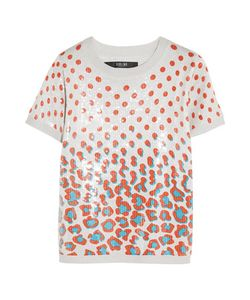 Sibling | Sequined Printed Jersey Top