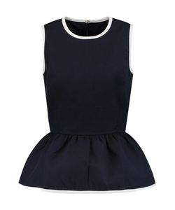 Mother Of Pearl   Finch Cotton-Twill Peplum Top