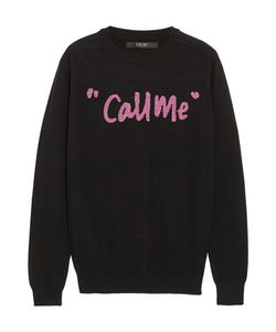 Sibling | Call Me Intarsia Merino Wool-Blend Sweater