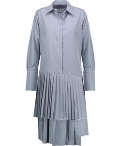 Adam Lippes | Striped Pleated Poplin Dress