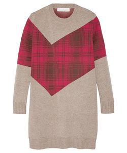 Thakoon Addition | Addition Tartan-Paneled Knitted Sweater