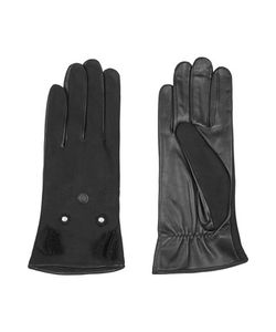 Agnelle | Nubuck And Leather Gloves