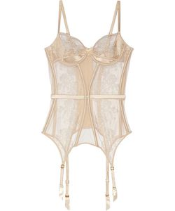 AGENT PROVOCATEUR | Gloria Embroidered Tulle And Satin Basque