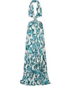 Just Cavalli | Cutout Printed Stretch-Jersey Gown