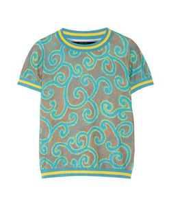 Sibling | Printed Stretch Cotton-Blend Top