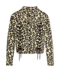 Sibling | Leopard-Print Denim Jacket