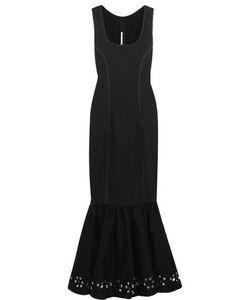 Alessandra Rich | Crystal-Embellished Stretch-Denim Gown