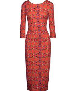 Suno   Print Stretch-Silk Midi Dress
