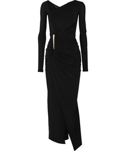 Donna Karan New York | Asymmetric Ruched Stretch-Jersey Gown