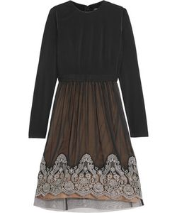 Catherine Deane | Grady Jersey And Embroidered Silk-Chiffon Dress