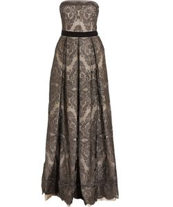 Catherine Deane | Gabriella Pleated Embroidered Tulle Gown
