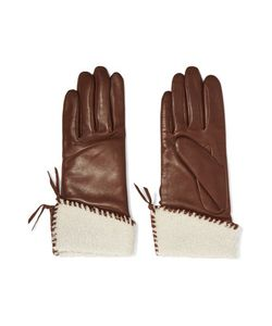 Agnelle | Shearling-Trimmed Leather Gloves