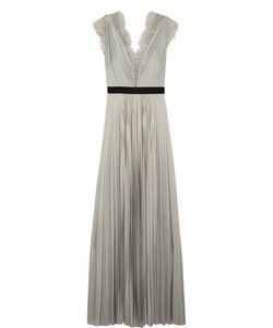 Catherine Deane | Griffin Lace-Trimmed Plissé-Satin Gown