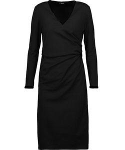 Raoul   Dilara Draped Velvet-Trimmed Cotton-Blend Jersey Dress