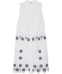 Suno   Embroide Linen And Cotton-Blend Mini Dress