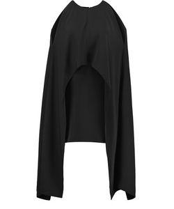 Kaufmanfranco | Cape-Effect Cutout Crepe Mini Dress