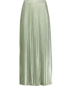 Adam Lippes | Pleated Silk-Blend Maxi Skirt