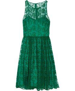 Badgley Mischka | Embroide Tulle Mini Dress