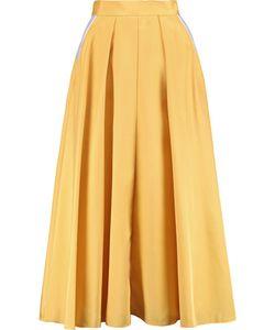 Roksanda | Lilian Pleated Silk-Blend Skirt