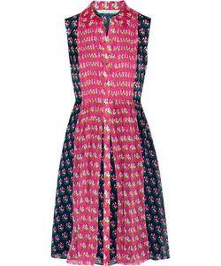 Diane von Furstenberg | Nieves Printed Faille And Chiffon Dress