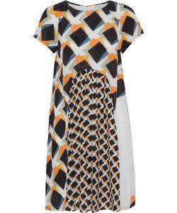 Suno   Pleated Printed Silk Crepe De Chine Mini Dress