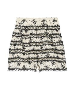 Zimmermann | Pleated Embroide Corded Lace Shorts