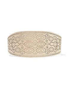 Zimmermann | Embossed Perforated Leather Wide Belt