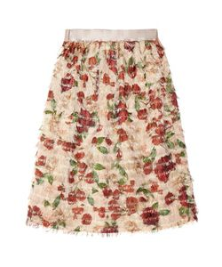 Mother Of Pearl   Emelia Fringed Printed Voile Skirt Antique