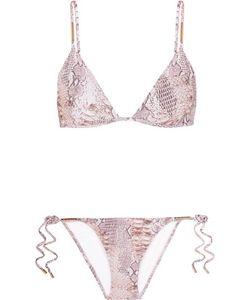 Melissa Odabash | Verona Snake-Print Triangle Bikini