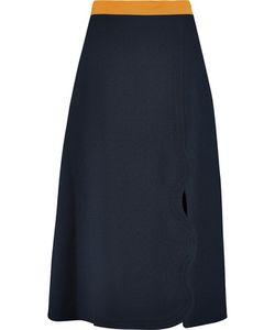 Roksanda | Jeanne Scalloped Crepe Skirt