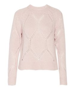 Tanya Taylor | Ella Pointelle-Trimmed Wool And Silk-Blend Sweater Pastel