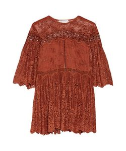 Zimmermann | Pleated Broderie Anglaise Silk Top