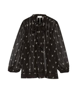 Zimmermann | Pleated Printed Silk Crepe De Chine Pussy-Bow Blouse