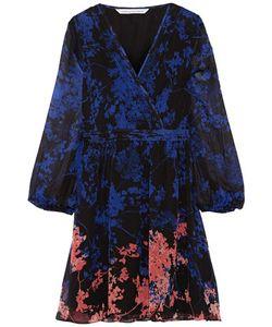 Diane von Furstenberg | Celia Printed Silk-Chiffon Mini Dress Storm