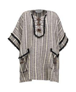 10 Crosby Derek Lam | 10 Crosby By Derek Lam Embellished Striped Cotton-Blend Cape