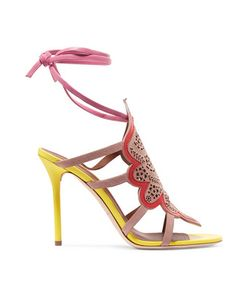 Malone Souliers | Eva Laser-Cut Suede And Leather Sandals
