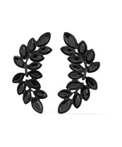 Kenneth Jay Lane | Ened Crystal Clip Earrings One Size