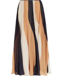 Roksanda | Zaha Striped Silk-Seersucker Midi Skirt