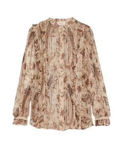 Zimmermann | Mischief Ruffledprint Silk-Georgette Shirt