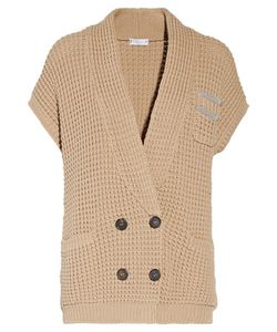 Brunello Cucinelli   Beaded Cotton-Blend Sweater