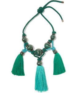 Lanvin | Plastron Tasseled Enameled Bead Necklace