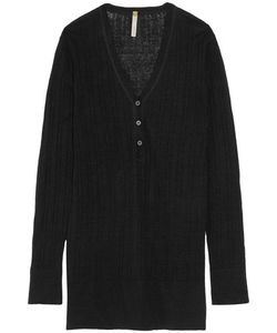 Soyer | Ribbed Linen Cashmere And Silk-Blend Top