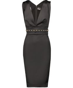 Just Cavalli | Cutout Studded Satin Dress